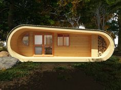 modern log cabin design eco PERCH
