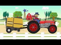 ☻ Farmer Farm Work | Straw - Bajki Traktorek - Prace Rolnika ☻ - YouTube