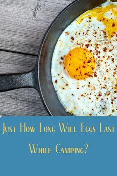 Eggs are an essential camping food. But how long will eggs last when we're out in the field and away from our refrigerator? Diy Camping, Tent Camping, Camping Gear, Camping Hacks, Campfire Food, Camping Supplies, Camping Essentials, Camping Accessories, Make It Work
