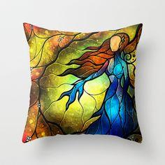 Wishing you were here Throw Pillow by Mandie Manzano - $20.00