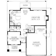 Bungalow Craftsman House Plan 46153 Level One