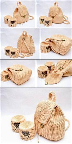 40 Free Crochet Patterns And Ideas For Bags, Purses, And More – Diy – Crochet Bag İdeas. Crochet Bag Tutorials, Diy Crafts Crochet, Crochet Ideas, Crochet Handbags, Crochet Purses, Crochet Bags, Crochet Girls, Free Crochet, Mochila Tutorial
