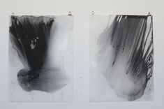 Julie Tremblay - powdered charcoal and matte oil varnish on vellum