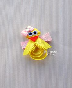 2 inch Little Chick Easter Hair Clip- Perfect for Easter or Any Baby Chick Lover- on Etsy, $3.50