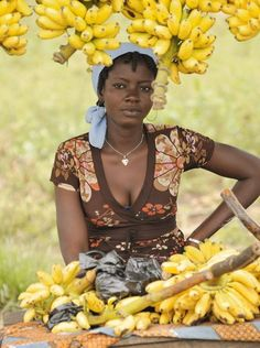 Ivory Coast woman at market