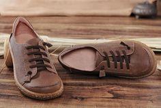 Cerca de zapatos de cuero para mujer zapatos Oxford zapatos