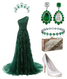 A fashion look from March 2017 featuring long prom dresses, platform shoes and metallic purse. Browse and shop related looks. Mode Harry Potter, Harry Potter Outfits, Lila Outfits, Classy Outfits, Coco Chanel Dresses, Looks Party, Simple Gowns, Bridal Sandals, Royal Clothing