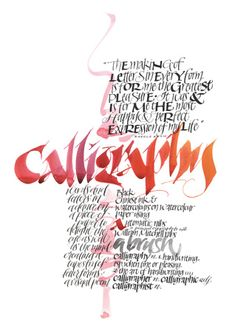 Calligraphy by Alison Furminger.  Originally created for New Zealand Calligraphers' 2005 exhibition, this piece is a calligraphic celebration with particular tribute to the great German calligrapher Rudolf Koch