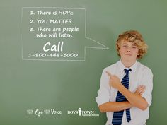 We will be there for you. Call, text, chat or email. Go to yourlifeyourvoice.org