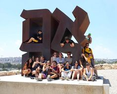 """The """"LOVE"""" sculpture at The Israel Museum in Jerusalem makes a great place for a group photo! #Taglit #Birthright #Israel www.israelonthehouse.com"""