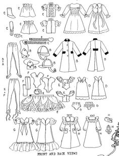 Sewing Pattern for Skipper Doll Summer Clothes. Fits by