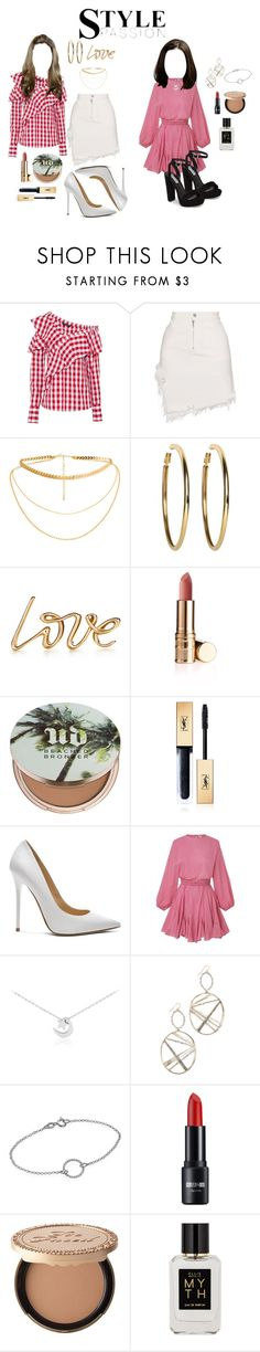 """""""get the look 74"""" by ichaermayani on Polyvore featuring W118 by Walter Baker, Sandy Liang, Kenneth Jay Lane, Urban Decay, Yves Saint Laurent, Jimmy Choo, Alexis Bittar, Too Faced Cosmetics, Ellis Brooklyn and Steve Madden"""