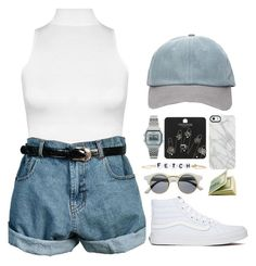 """""""Fetch"""" by poetic-tuesday ❤ liked on Polyvore featuring Topshop, Stella & Bow, Forever 21, Casio, WearAll, Uncommon, Retrò, Vans, StreetStyle and simple"""