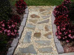 Inexpensive Stone Walkways And Types Stone Walkway Walkways And Landscape Designs