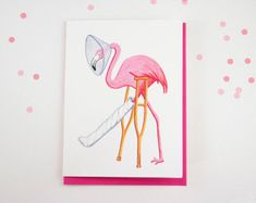 f163ae434 This flamingo buddy is in a pretty bad shape. but he will get well soon and  he will surely get a laugh out of the person you will give him to!