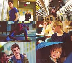 The awkward, bumbling, socially challenged Peter Parker happens to be the person who goes around saving people, and giving people hope, not to mention he's great with kids
