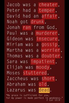 Lord you are so merciful and full of love. ❤    Bible folks that were human, too!