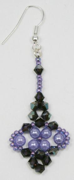 Deb Roberti's Bijou Earring done in Lavender