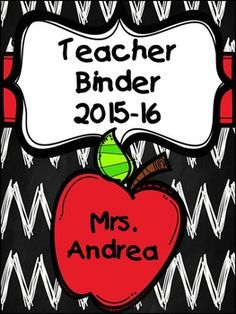 Who would like to be more organized this school year? This teacher binder will help you do just that! These pages are EDITABLE! I have included information on each page, but you can easily click on text and change. If you have any questions, feel free to contact me in the Q and A section of TpT.Since I will update the binder yearly, you only have to purchase the binder once.