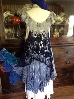 Your place to buy and sell all things handmade Prom Dress Shopping, Online Dress Shopping, Lace Outfit, Boho Dress, Moda Vintage, Vintage Lace, White Lace Skirt, Long Tunic Tops, Crochet Lace Dress