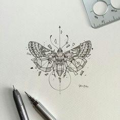 """Résultat de recherche d'images pour """"tatouages insectes géométrie"""""""