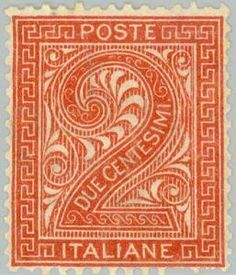 Number two with ornaments a rectangular frame Number Two, Figure Drawing, Postage Stamps, Poster, Drawings, Ornaments, Frame, World, Italia