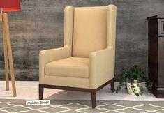 Joan Wingback Chair (Irish Cream) Wingback Chair, Armchair, Irish Cream, Wing Chair, Wings, India, Modern, Furniture, Home Decor