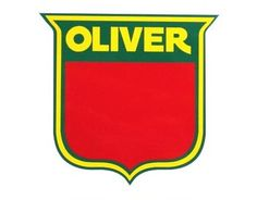oliver tractor round heavy steel sign oliver shield first in farm rh pinterest com Oliver Tractor Decals Oliver Tractor Logo Coloring Page