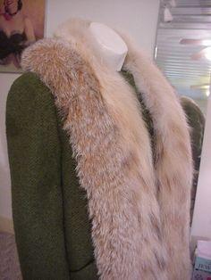 1940's Designer Wool Jacket Fur Trimmed  by OldohioVintage on Etsy