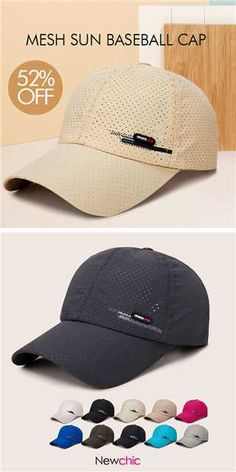 7c6401fb3d1 Men s Summer Breathable Adjustable Mesh Hat Quick Dry Cap Outdoor Sports  Climbing Baseball Cap is hot sale on Newchic.