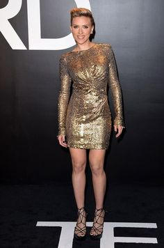 Scarlett Johansson Photos: Celebs at the Tom Ford 2015 Womenswear Presentation