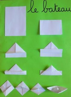 Preschool of Prigonrieux - Origami Origami Simple, Origami Love Heart, Origami Star Box, Origami Stars, Origami Mouse, Origami Fish, 3d Origami, Origami Paper, Origami Folding