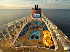 Disney Dream // I want this to be my next cruise. That water slide though.