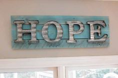 DIY Pallet Wood & Galvanized Steel Sign - All Things Heart and Home