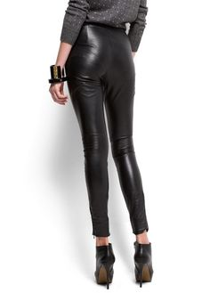 Sexy MANGO - CLOTHING - Leather skinny trousers