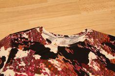 Tutoriel : terminer une encolure avec une bande de jersey - Marmotta couture