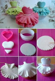 fondant dress for cupcakes