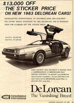 YouRememberThat.Com - Taking You Back In Time... - DeLorean-The Vanishing Breed