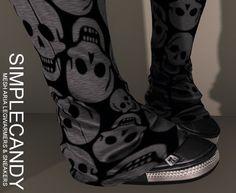 SimpleCandy - Mesh Aria Legwarmers & Sneakers [SCENE QUEEN]