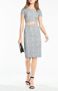 Bridette Floral Lace Two-Piece Dress
