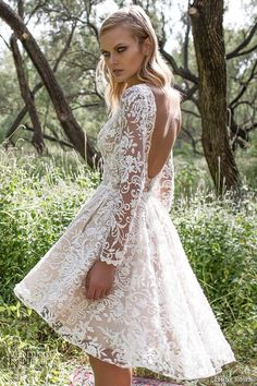 Weddings & Events Provided Lace Chiffon Modest Wedding Dresses With Long Sleeves Informal Floor Length Ivory A-line Reception Dresses Rehearsal Dinner To Win Warm Praise From Customers