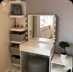 Room Ideas Bedroom, Small Room Bedroom, Home Decor Bedroom, Dressing Room Decor, Dressing Room Design, Dressing Table Mirror, Small Room Design, Home Room Design, Brimnes Dressing Table