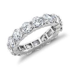 Blue Nile Signature Diamond Eternity Ring in Platinum (5 ct. tw.)