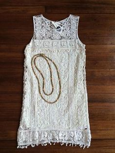 Crochet Boho Dress Available at Lush & Co. Boutique