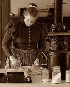 woman working -c1890s kitchen