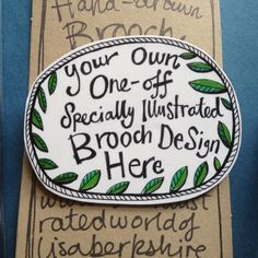 Customised Brooch - Hand-drawn by LisaBerkshire on Etsy