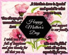 Sweet verse for an even sweeter mother. Free online A Mother's Love Is Special ecards on May Day Happy May, Happy Love, Are You Happy, Wishes For You, Day Wishes, Happy Wedding Anniversary Wishes, Thoughts Of You, Mum Birthday, Name Cards