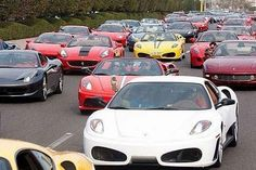 Supercar traffic jams.