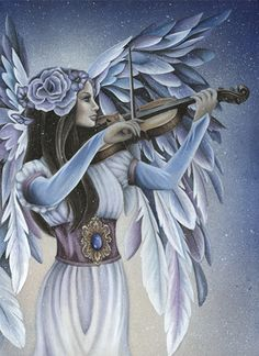 Divine Melody Angel Card by Jessica Galbreth