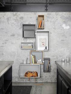 STACKED bookshelf To purchase these items contact RADform at +1 (416) 955-8282 or info@radform.com http://www.radform.com/stacked.html #muuto #radform #modernfurniture #interiordesign #shelving #bookshelf #storage #moderndesign #grey #gray #endlesspossibilities #greatprice #availablenow